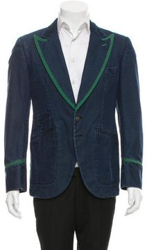 Hogan Denim Two-Button Blazer w/ Tags