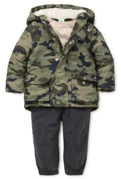 Little Me Baby Boy's Three-Piece Camo Hoodie Top & Jeans Set
