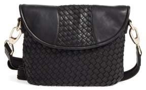 Robert Zur Nola Woven Leather Crossbody - Black