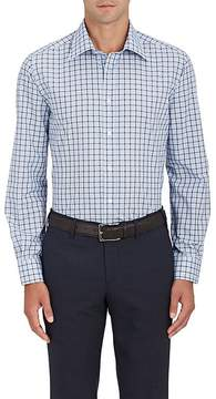 Luciano Barbera Men's Windowpane-Checked Cotton Shirt
