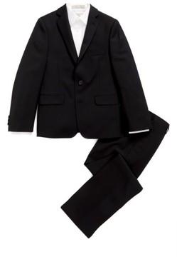 DKNY Boy's 'Tonal Neat' Wool Suit