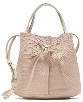Banana Republic Leather Bow Bucket Bag