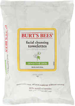 Burt's Bees Women's Sensitive Cotton Extract Facial Cleansing Towelettes