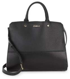 Furla Leather Top Handle Tote Bag