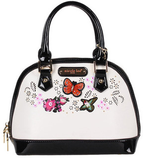 Women's Nicole Lee Visola Butterfly Embroidered Mini Dome Bag