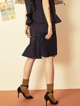 Blank Check Mix Skirt-nv