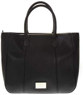 Emporio Armani Medium Black Hand Bag In Eco Leather