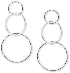 Giani Bernini Interlocking Circle Drop Earrings in Sterling Silver, Created for Macy's