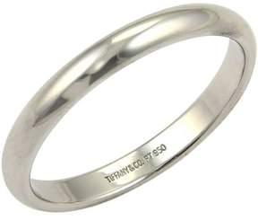 Tiffany & Co. Platinum Plain Wedding Dome Band Ring Size 11
