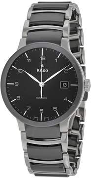 Rado Centrix Automatic Black Dial Two-Tone Ceramic Men's Watch
