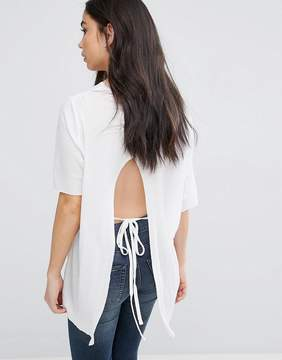 Cheap Monday Open Tie Back Hair Top