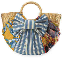 Sam Edelman Jaelynn Straw Paper Basket Satchel Bag