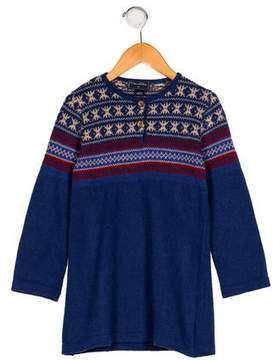 Oscar de la Renta Girls' Patterned Knit Dress
