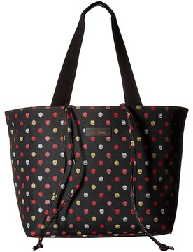 Vera Bradley Drawstring Family Tote Tote Handbags - HAVANA DOTS - STYLE