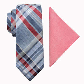 Jf J.Ferrar Plaid Tie Set