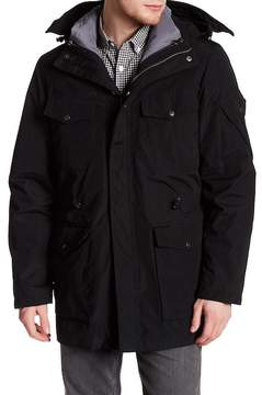 Cole Haan Hooded Funnel Neck Coat