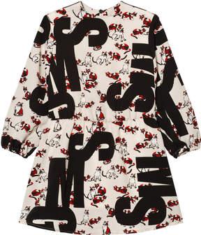 MSGM Cat Print Logo Dress