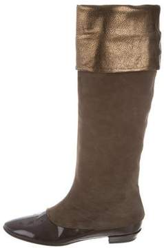 Pollini Round-Toe Knee-High Boots