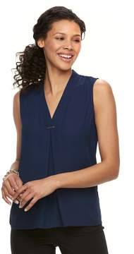 Dana Buchman Women's Pleated Sleeveless Top