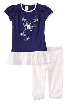 Chicco Girls' Short Sleeve Dress & Leggings Set.