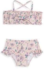 Jessica Simpson Baby's Two-Piece Floral-Print Bikini Set
