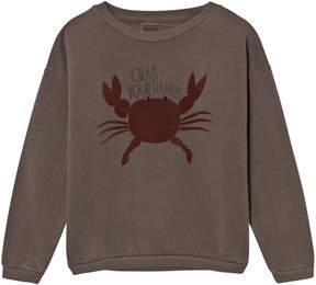 Bobo Choses Brown Crab Print Sweatshirt