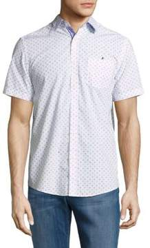 Report Collection Casual Button-Down Cotton Shirt