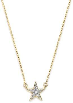 Adina 14K Yellow Gold Pavé Diamond Star Necklace, 15