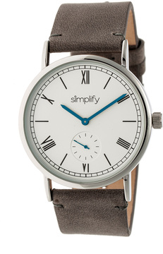 Simplify The 5100 Stainless Steel Silver Dial Watch, 40mm