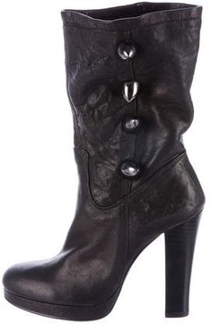 Thomas Wylde Spiked Leather Ankle Boots