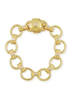 Elizabeth Locke Rimini 19k Diamond Link Bracelet