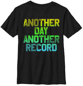 Fifth Sun Black 'Another Day Another Record' Crewneck Tee - Youth