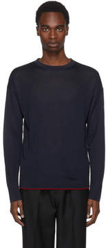 Jil Sander Navy Silk Sweater