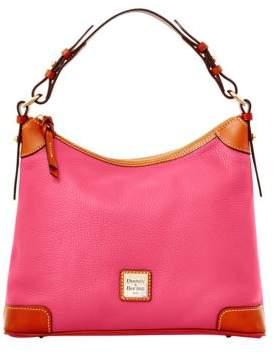 Dooney & Bourke Pebbled Leather Hobo Bag - TANGERINE - STYLE