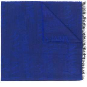 Armani Jeans jacquard logo scarf