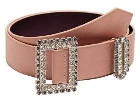MANGO Strass buckle belt
