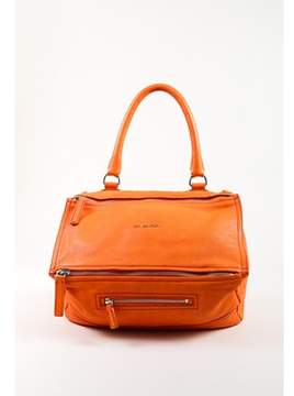 Givenchy Pre-owned Orange Grained Goat Leather medium Pandora Shoulder Bag.
