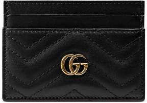 Gucci GG Marmont card case - BLACK LEATHER - STYLE
