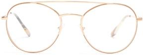 PRADA EYEWEAR Round-frame metal glasses