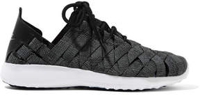 Nike Juvenate Premium Faux Textured Leather-trimmed Woven Sneakers - Gray