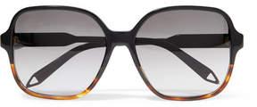 Victoria Beckham Oversized Square-frame Acetate Sunglasses - Tortoiseshell