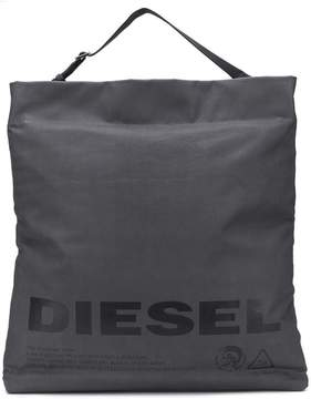 Diesel metallic shopping tote