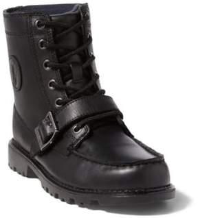 Ralph Lauren Leather Ranger Hi Ii Boot Black Leather 3.5