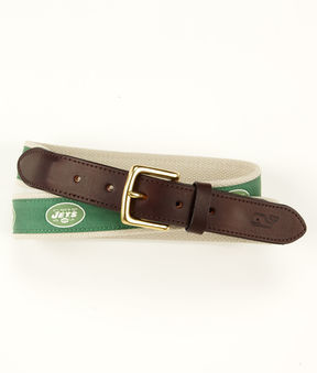 Vineyard Vines New York Jets Canvas Club Belt