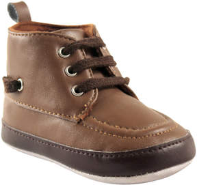 Luvable Friends Brown Hi-Top Boat Shoe - Boys