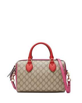 Gucci GG Supreme Small Top-Handle Bag, Red/Pink - RED/PINK - STYLE