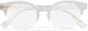 Jimmy Choo Round-frame Glittered Acetate Optical Glasses - White