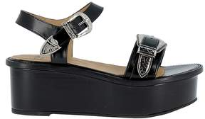 Toga Pulla Black Leather Sandals
