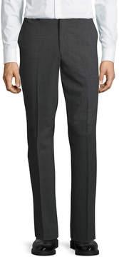 DKNY Wool-Blend Straight-Leg Trousers, Gray