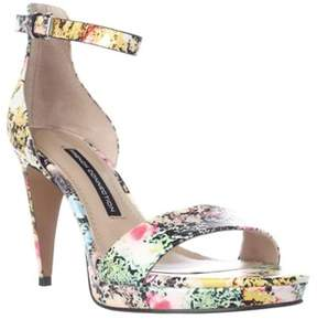 French Connection Nata Ankle Strap Sandals, Multi Color.
